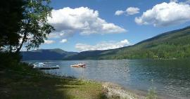 East Barriere Lake Waterfront Sites for sale billboard up off Hwy 1 in Hope, BC - finally!!!
