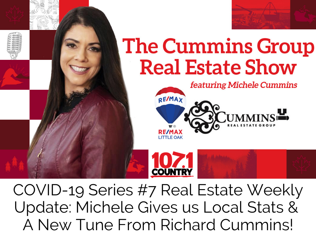 COVID-19 Series #7 Real Estate Weekly Update: Michele Gives us Local Stats & A New Tune From Richard Cummins!