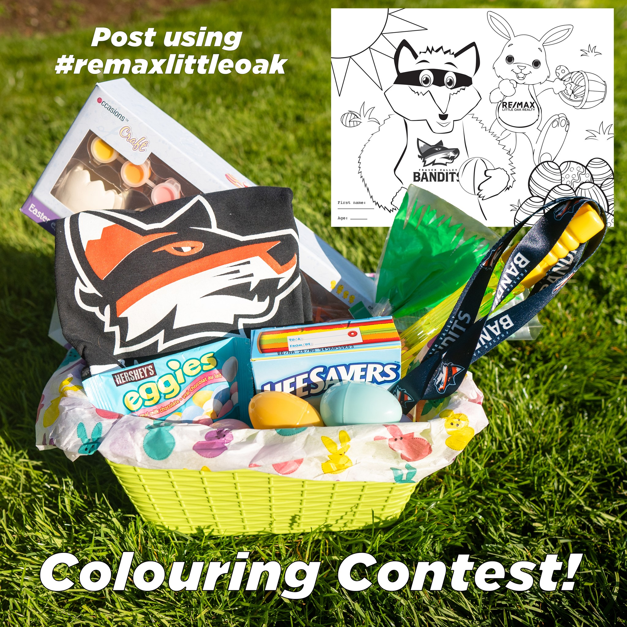 Easter 2020 Colouring Contest with RE/MAX Little Oak & the Fraser Valley Bandits