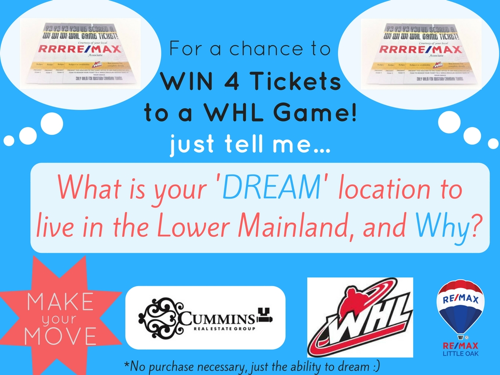 A chance to WIN 4 Tickets to a WHL Game!