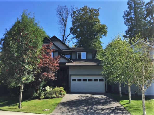 Beautiful Park-Side Setting of Home on Large Landscaped Yard in Maple Ridge