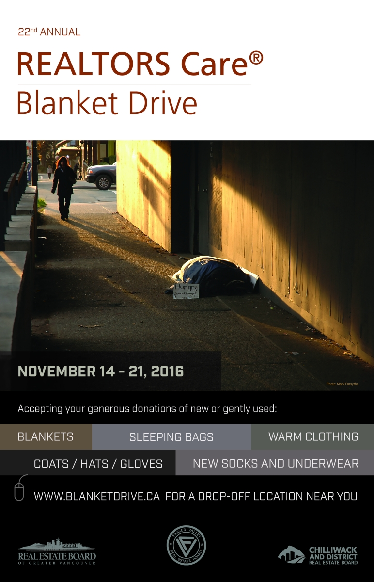 22nd Annual Realtors care Blanket Drive