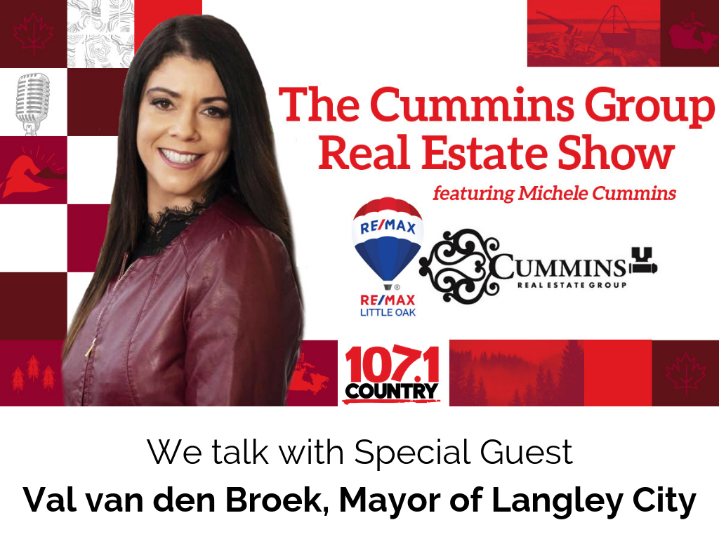 Michele and Curtis talk with Mayor of Langley City, Val van den Broek