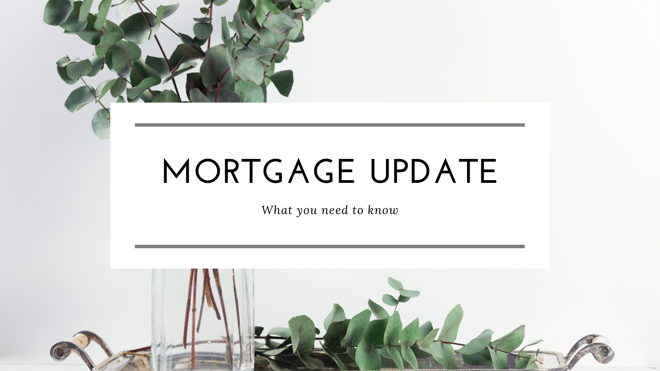 Getting a Mortgage in November--What you need to know!