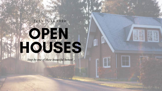 You are Invited to My Open Houses This Weekend!